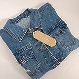 itsy town Blazers,Men's Denim Jacket,Classic