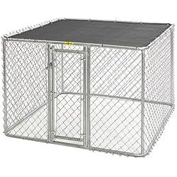 "Steel Chain Link Portable Yard Kennel Size: (48"" H x 72"" W x 72"" L)"