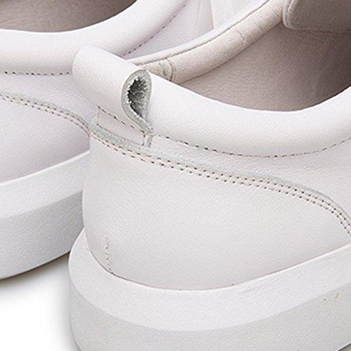 NAN blanc blanc Blanc chaussures EU36 CN36 talon femmes plat pour UK4 été confortable taille PU Couleur Chaussures Casual rOzSqwPr