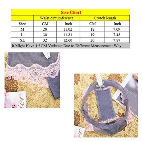 Zhhlaixing Female Low Waist Panties Net Yarn Floating Point Transparent Underwear Dark Blue