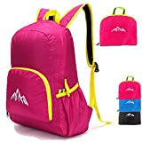 25L Ultra Lightweight Packable Backpack Water Resistant Hiking Daypack,Small Backpack Handy Foldable Camping Outdoor Backpack Little Bag (Hot Pink) Review