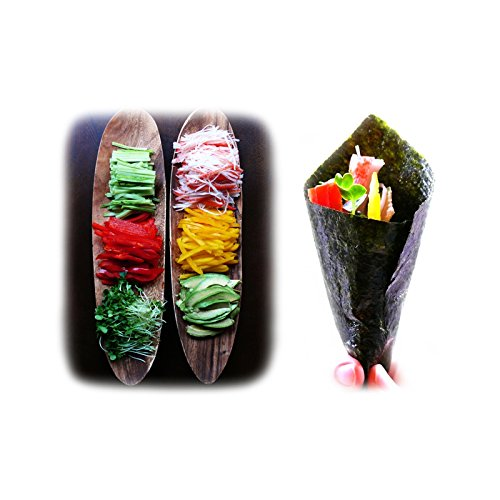 Kaneyama Yaki Sushi Nori / Dried Seaweed (Vacuum-packed/re-sealable), Gold Grade, Full Size, 10 Packs of 50 Sheets by Kaneyama (Image #2)