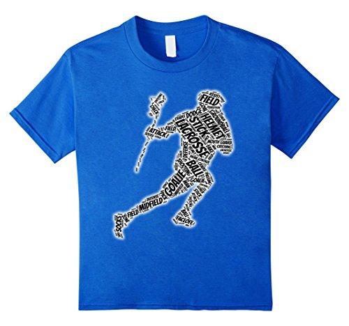 Kids  Goalie glove stick ball t-shirt 12 Royal Blue