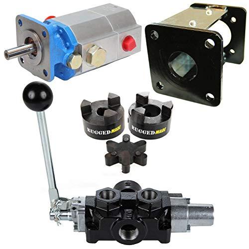 RuggedMade 11 GPM Hydraulic 2-Stage Log Splitter Pump, Mounting Bracket, Auto Return Detent Valve, Parts Build ()