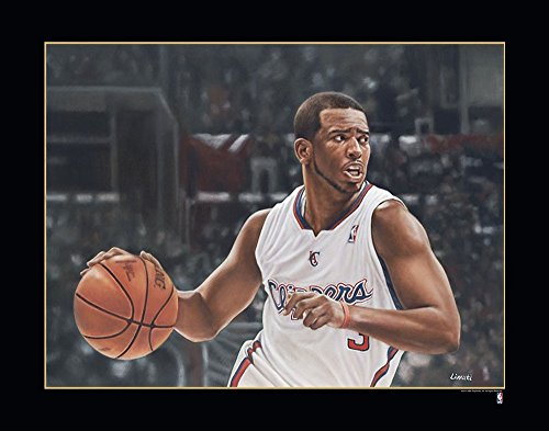 Los Angeles Clippers Photograph (NBA Los Angeles Clippers Chris Paul Victory Fine Art Print on Paper, 24