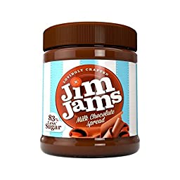 JimJams 83% Less Sugar Milk Chocolate Spread 350g - Pack of 2