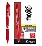 Pilot FriXion Ball Erasable Gel Pens, Fine Point, Red Ink, Dozen Box (31552)