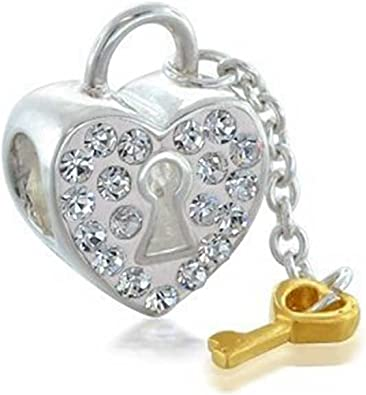 GiftJewelryShop Silver Plated Heart My Graduate Photo Flower Head Dangle Heart Bead Charm Bracelets