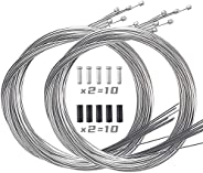10PCS Bike Shift Cables, Bicycle Shift Wire Kit,Premium Bike Shifter Cables, Bike Shift Cable Kit, Bicycle Gea