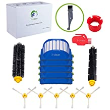 I-clean Accessory for iRobot Roomba 650 655 630 620 645 600 Series Vacuum Cleaner Replacement Part Kit - Included 5 Pcs Filter, Side Brush, and 1 Pc Bristle Brush & Flexible Beater Brush, and Cleaning Tool