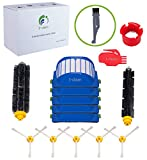 I-clean14pcs Replenishment Parts For iRobot Roomba 595 614 620 630 650 652 660 680 690 (600 Series),Replacement Mega Brushes Kit Bristle & Flexible Beater Brushes& 3-Armed Brushes & Aero Vac Filters