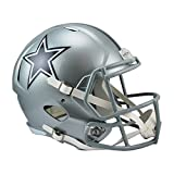 silver football helmet - Riddell RIDDRSPDAL NFL Dallas Cowboys  Full Size Replica Speed Helmet, Medium, Silver