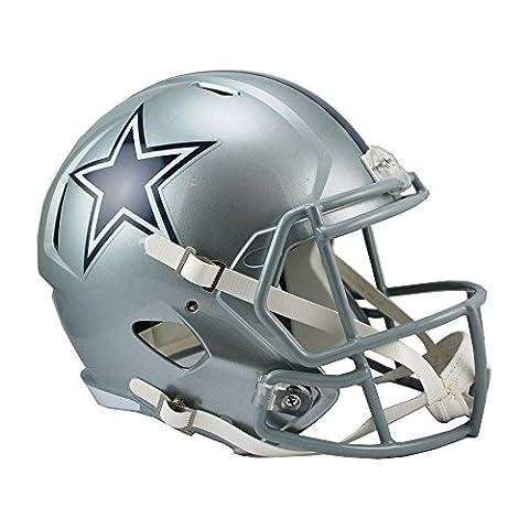NFL Dallas Cowboys Riddell Full Size Replica Speed Helmet, Medium, Silver - Atlanta Falcons Helmet