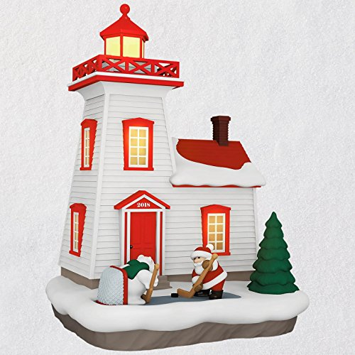 Hallmark Keepsake Christmas Ornament 2018 Year Dated, Holiday Lighthouse with Light from Hallmark