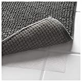 Klickpick Designs Thick Plush Bath Mats Soft Bath Mat Chenille Washable Bath Rugs Microfiber Shaggy Non Slip Bathroom Rug Anti Slip Absorbent Bath Rug Carpet with Non Skid Backing- Gray,16x24 Inches