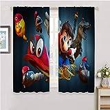 Super Mario Heat Insulation Curtain Curtains 63