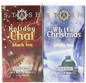 Stash Tea Holiday Chai & White Christmas Gift Set (Pack of 3)