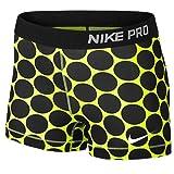 Nike Pro Big Dot 3″ Women's Compression Running Shorts – Large – Black