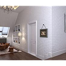 Jingzou 3D self-adhesive brick wallpaper non-woven wallpaper bedroom three-dimensional wall stickers living room background Chinese white brick bedroom