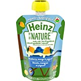 Heinz By Nature Organic Baby Food - Blueberry, Mango & Yogurt Purée - 128mL Pouch (Pack of 6)