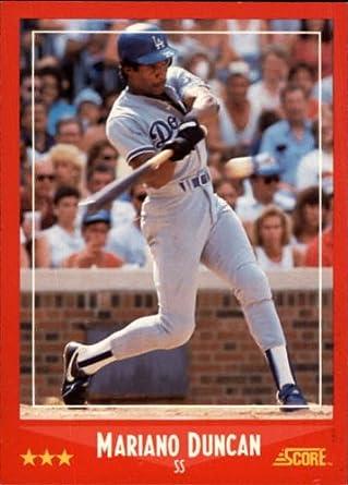 Amazoncom 1988 Score Baseball Card 321 Mariano Duncan Mint