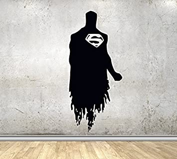 USA Decals4You | Superhero Wall Decals Silhouette Superman Vinyl Decor  Stickers MK0432