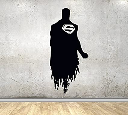 Perfect USA Decals4You | Superhero Wall Decals Silhouette Superman Vinyl Decor  Stickers MK0432