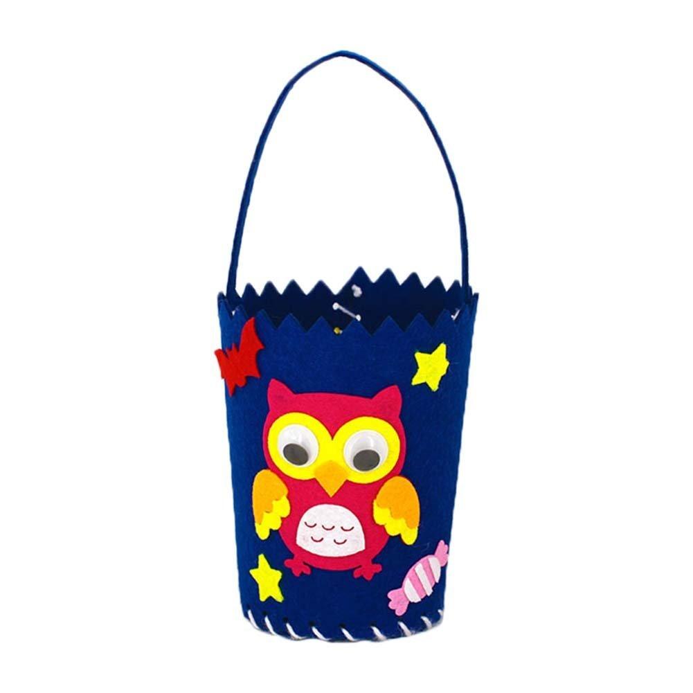 Fansi 1 Pcs Halloween Bricolage Enfants Sac de Bonbons Cadeau Sac Sac de Rangement Size 22 * 17cm (Rose)