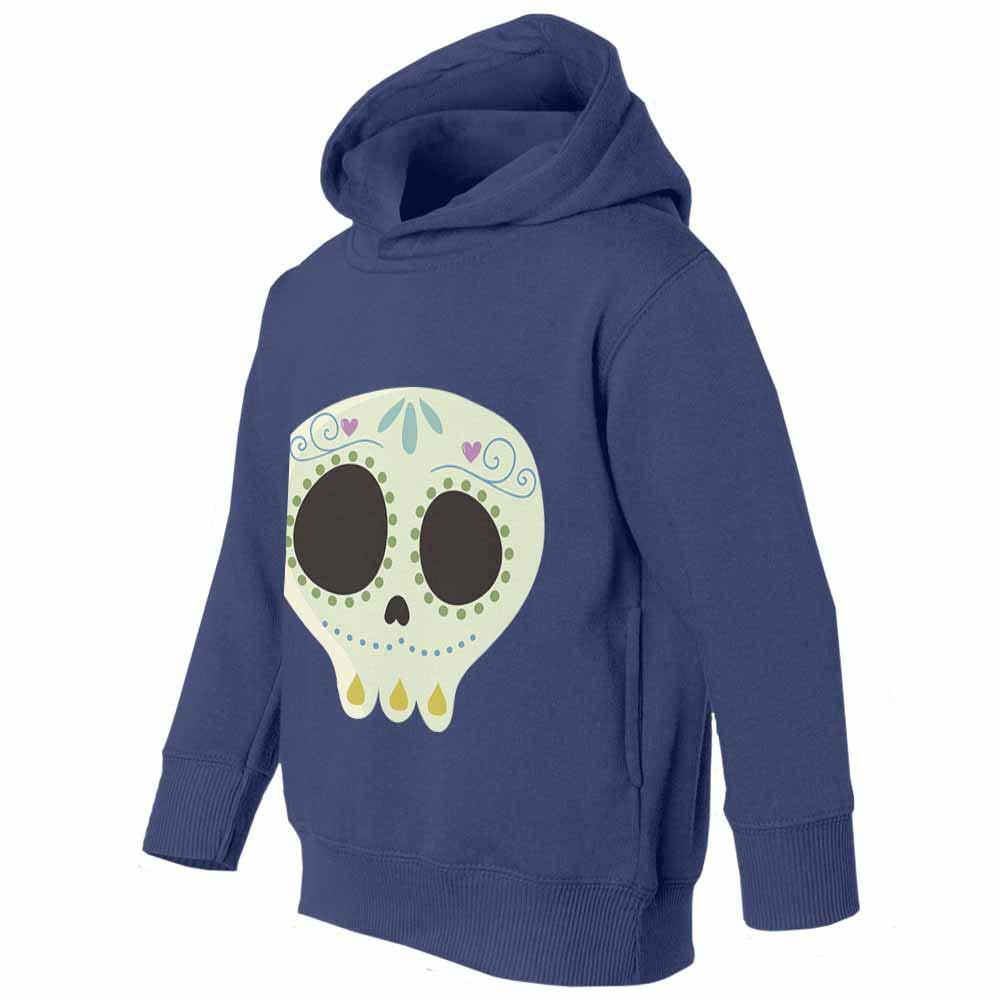 Cute Skull Sugar Skull Yellow Graphic Youth /& Toddler Hoodie Sweatshirt