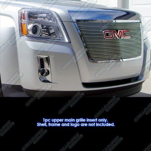 - APS G66743A Polished Aluminum Billet Grille Bolt Over for select GMC Terrain Models