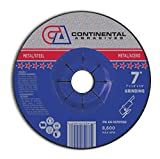Continental Abrasives A6-10701152 Cutting and Type 27 Grinding Wheels, 7-Inch by 1/8-Inch by 7/8-Inch