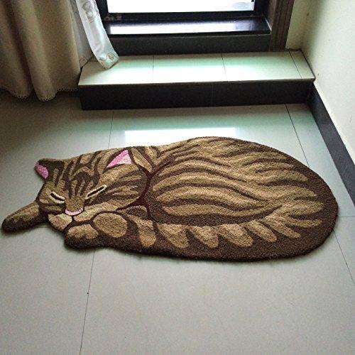 FADFAY Handmade Cute Cat Floor Mat Doormat Kitchen Rug