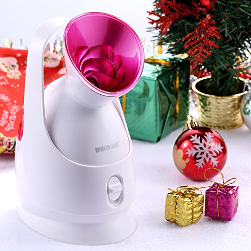 KINGDOMCARES Valentines Day Gifts Nano Ionic Hot Mist Facial Steamer Personal Sauna SPA Moisturizing Salon Skin Care Pores Cleanse Warm Mist Face Sprayer Face Hydrate System Atomizer Humidifier Rose (Facials Steamer compare prices)