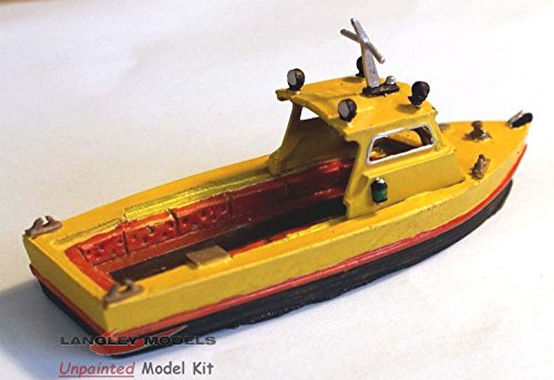 (Langley Models 26ft Inshore Water Taxi Dive Boat Fishing OO Scale UNPAINTED Kit F5f)