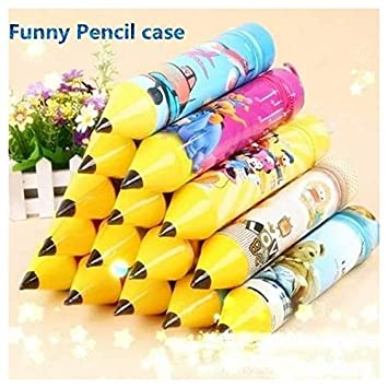 SillyMe Pencil Shaped Stationery Case Pouch for Kids | Birthday Return Gift (for Boys - 10 pc)