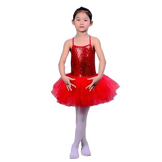 Los niños bailan trajes de vestir Niños Niñas Lentejuelas Camisola ...