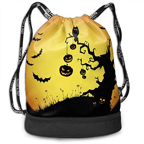 Halloween Backgrounds Drawstring Bags Backpack -