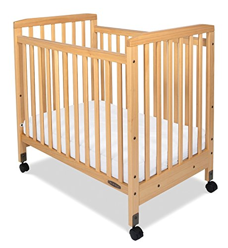 Child Craft Bristol Professional Series Compact Crib with Casters, Natural