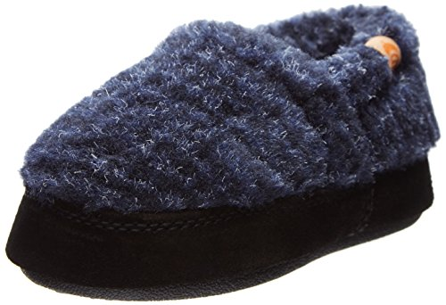 Acorn Kids Moc Slipper, Blue Check, 1-2 M US Little Kid