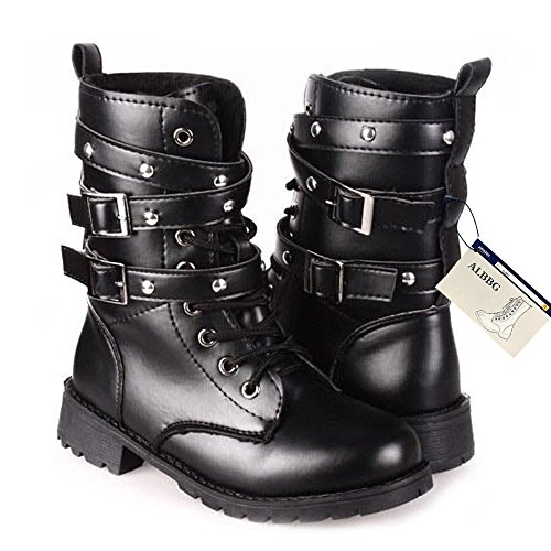 Motorcycle Buckle Boots - 1