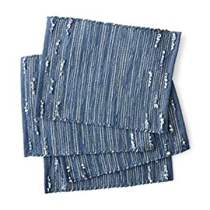 Better Homes Gardens Striped Looped Placemats Set Of 4 Blue Jeans Home Kitchen