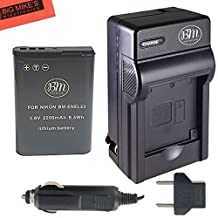 BM Premium EN-EL23 Battery and Charger for Nikon Coolpix B700, P900, P600, P610, S810c Digital Camera