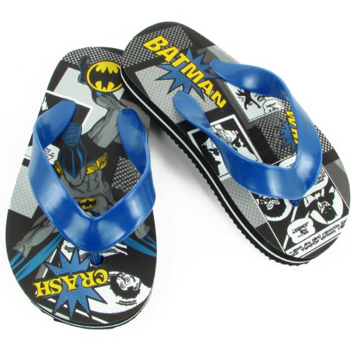 DC Comics Batman BMS120 Flip Flop ,Multi,7 M US Toddler