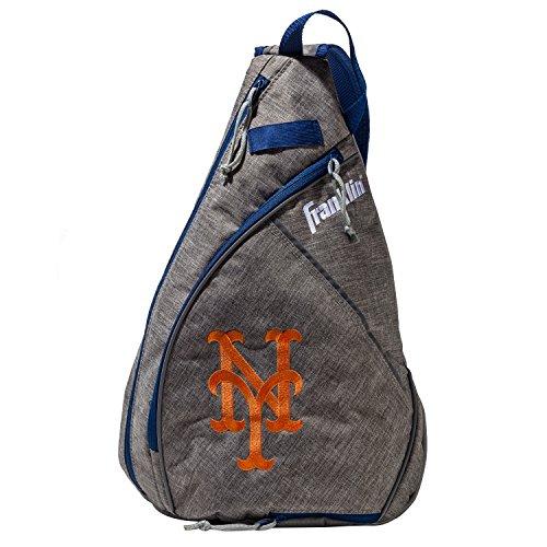 Franklin Sports New York Mets MLB Team Licensed Crossbody Slingbak Baseball or Softball Shoulder Bag for Men & Women