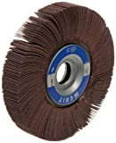 Merit Grind-O-Flex Abrasive Flap Wheel, 1'' Arbor, Round Hole, Ceramic Aluminum Oxide, 6'' Dia., 1/2'' Face Width, Grit 60, 6000 Max RPM (Pack of 1)