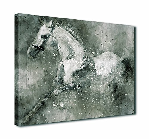 Canvas Wall Art White Horse Painting Canvas Artwork Running Horse For Home Decoration 30