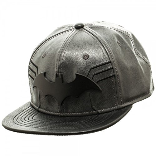 3a86954b29430 Batman Metal Logo PU Leather Snapback Cap - Import It All