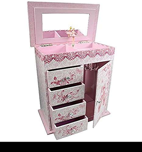 Girl's Musical Jewelry Box - Ballet Slippers