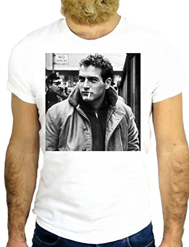 T SHIRT JODE Z2733 HOLLYWOOD PAUL POUL ACTOR CALIFORNIA USA NEWMAN SEXY GGG24 BIANCA - WHITE M