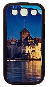 Samsung Galaxy S3 I9300 Case,Samsung Galaxy S3 I9300 Cases - Landscapes Lake Geneva PC Polycarbonate Hard Case Back Cover for Samsung Galaxy S3 I9300¨CBlack